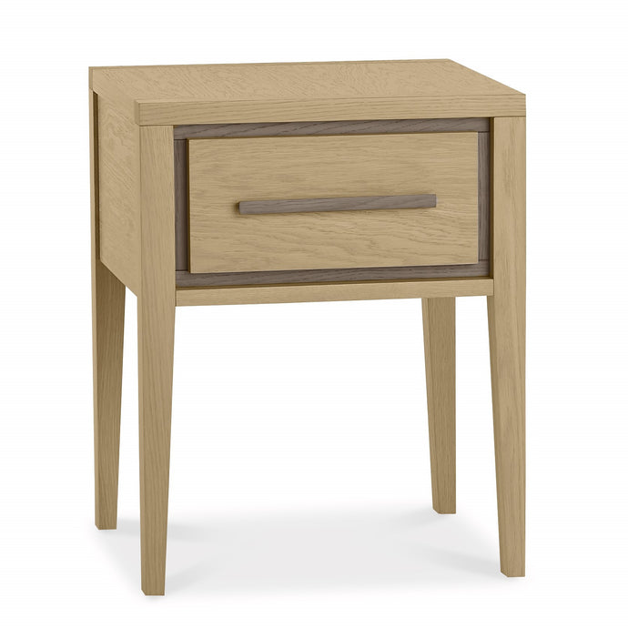 Maine Aged & Weathered Oak 1 Drawer Nightstand