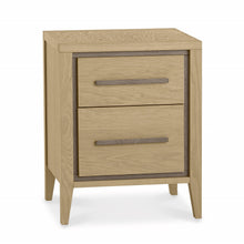 Maine Aged & Weathered Oak 2 Drawer Nightstand
