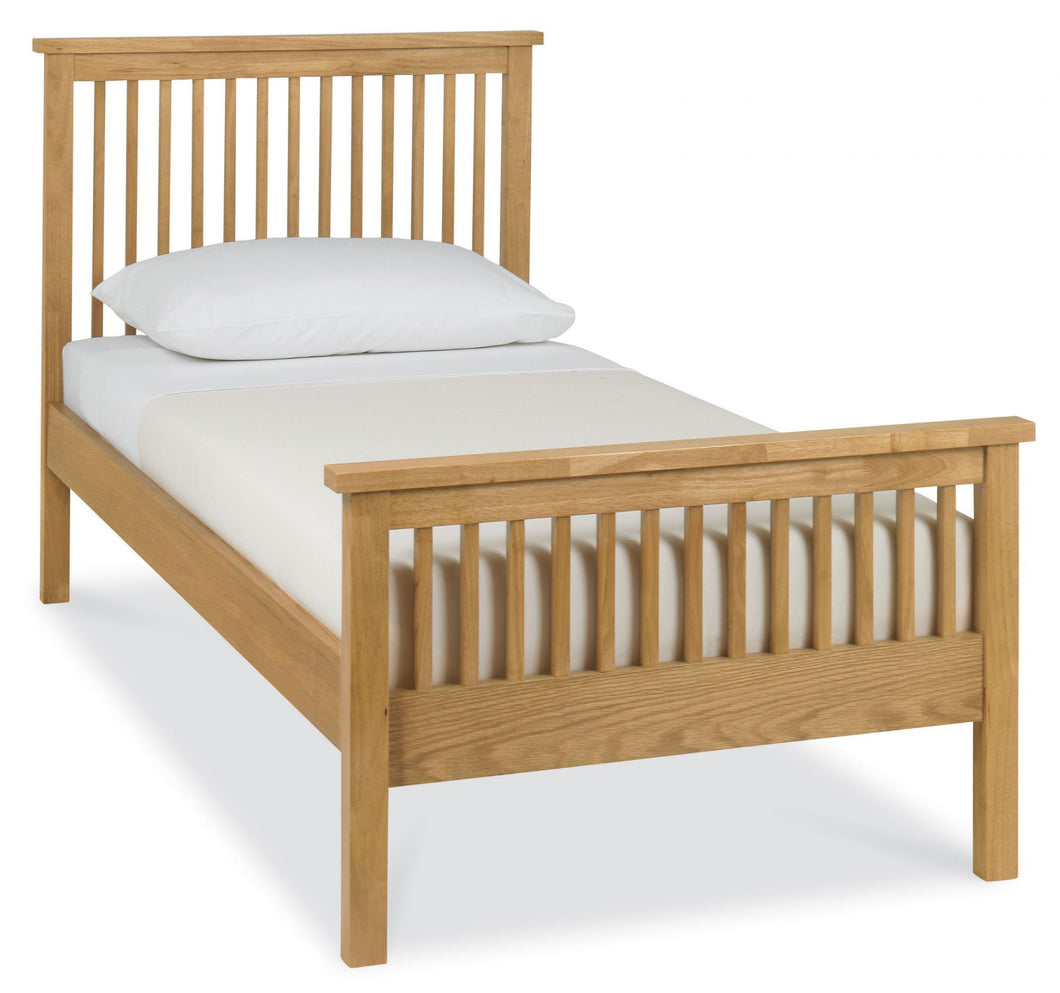 Memphis Oak High Footend Bedstead in Single