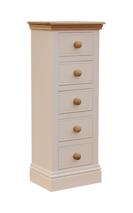 TCBC New England 5 Drawer Narrow Chest