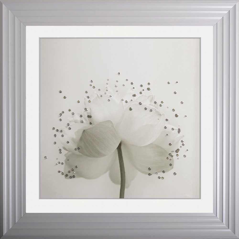 Lotus Flower 2 Framed Liquid Artwork