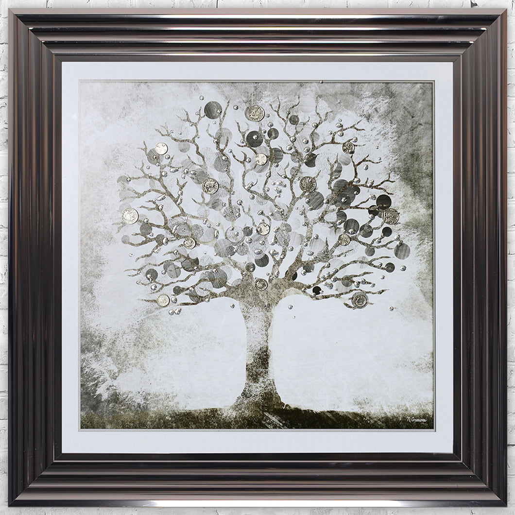 Silver Money Tree Artwork