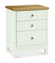 Memphis Two Tone 3 Drawer Nightstand