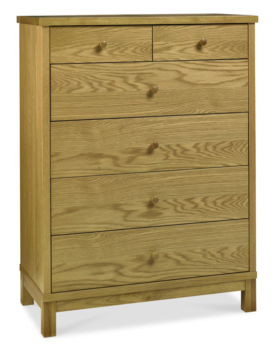 Memphis Oak 4+2 Drawer Chest