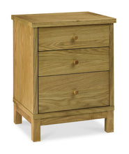 Memphis Oak 3 Drawer Nightstand