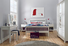 Memphis White Low Footend Single Bedstead