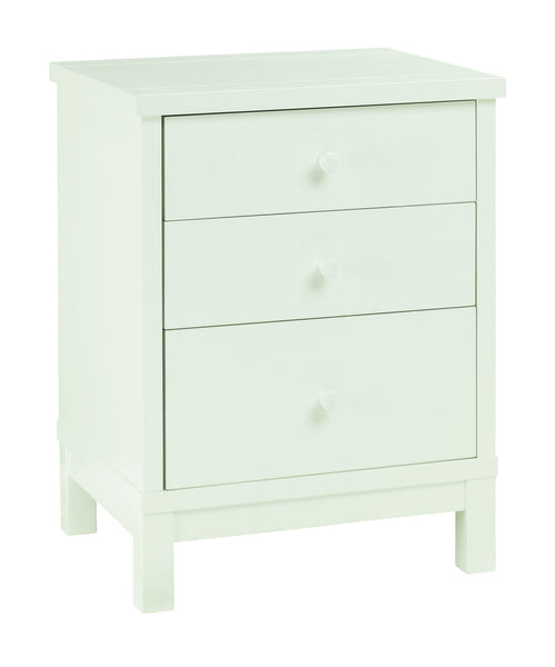 Memphis White 3 Drawer Nightstand