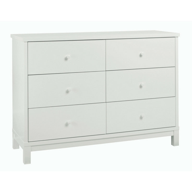Memphis White 6 Drawer Wide Chest