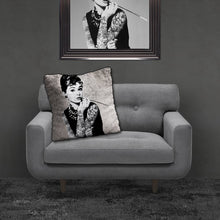 Audrey Tattoo Crushed Velvet Cushion