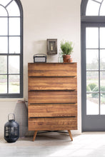Stowe Oak 5 Drawer Tall Chest