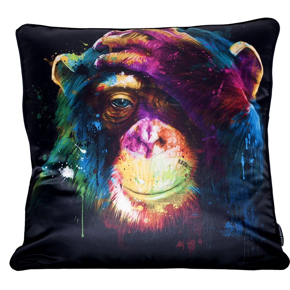 Patrice Murciano Large luxury feather filled cushion - DARWIN PREOCCUPATIONS