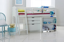 Scallywag Kids Contour Cabin Bed Including 3 Drawer Chest and Pull Out Desk