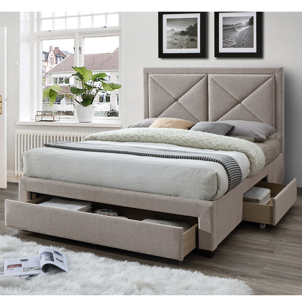 Sandown Bedstead in Mink Velvet