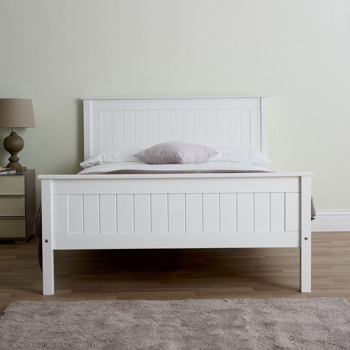 Compton High Footend Bedstead in White