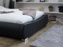 Abinger Bedstead in Black Faux Leather