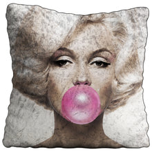 Marilyn Bubblegum Crushed Velvet Cushion