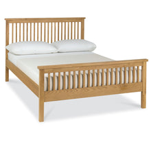 Memphis Oak High Footend Bedstead in Double
