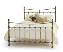 Serene Olivia Metal Bedstead in Antique Brass