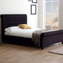 Peaslake Bedstead in Black Velvet