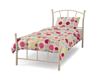 Serene Penny Metal Bedstead in White Gloss