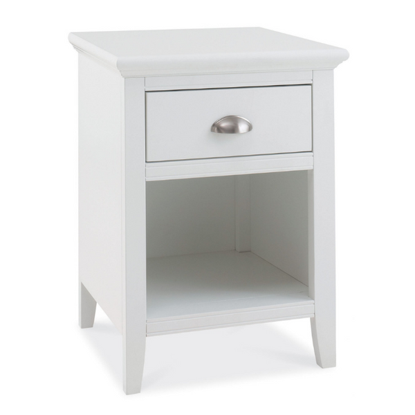 Kensington White 1 Drawer Bedside