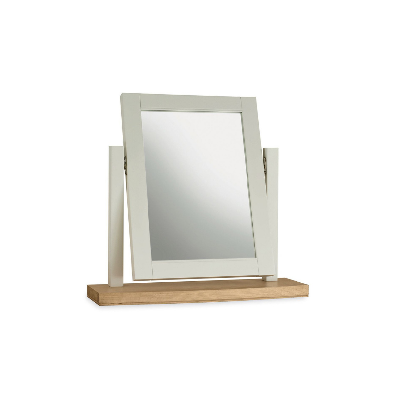 Kensington Soft Grey & Oak Vanity Mirror