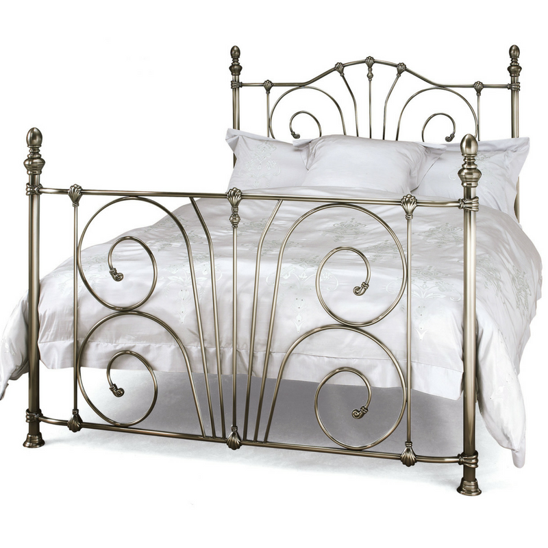 Serene Jessica Metal Bedstead in Antique Nickel