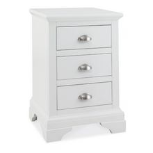 Kensington White 3 Drawer Bedside
