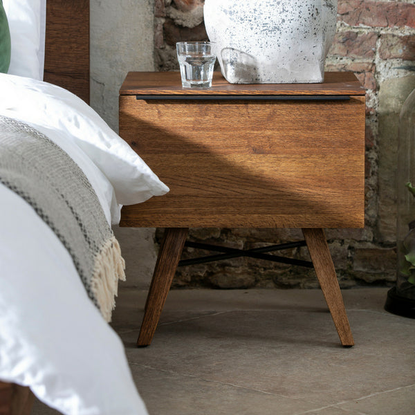 Stowe Oak 1 Drawer Bedside