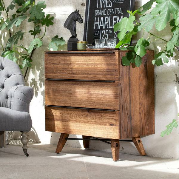 Stowe Oak 3 Drawer Chest