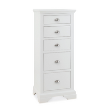 Kensington White 5 Drawer Tall Chest