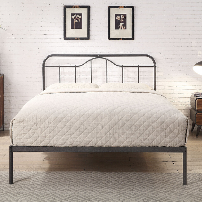 Malmo Black Steel bedframe