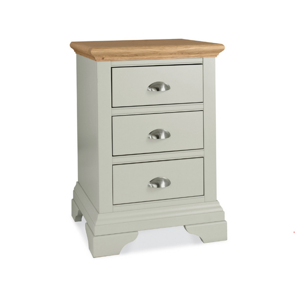 Kensington Soft Grey & Oak 3 Drawer Bedside