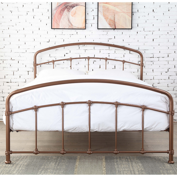 Vicenza Rose Gold bedframe