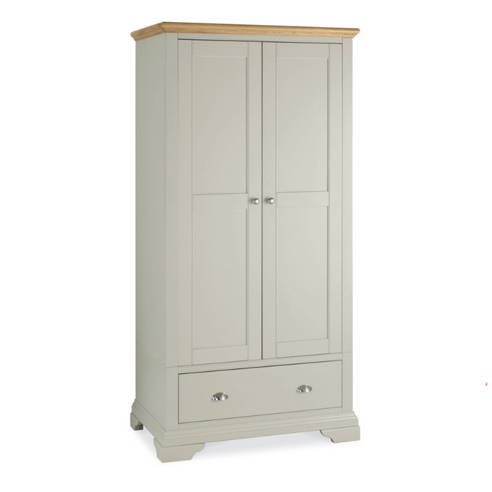 Kensington Soft Grey & Oak Double Wardrobe