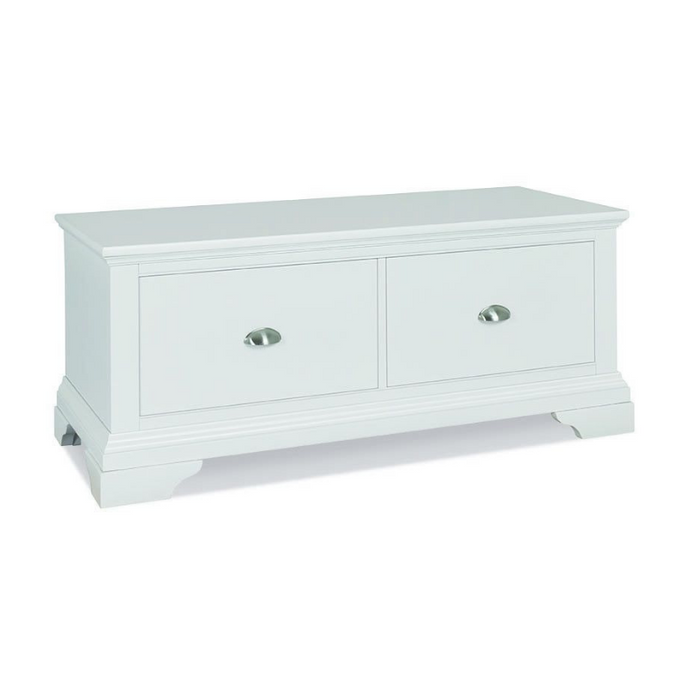 Kensington White Blanket Box