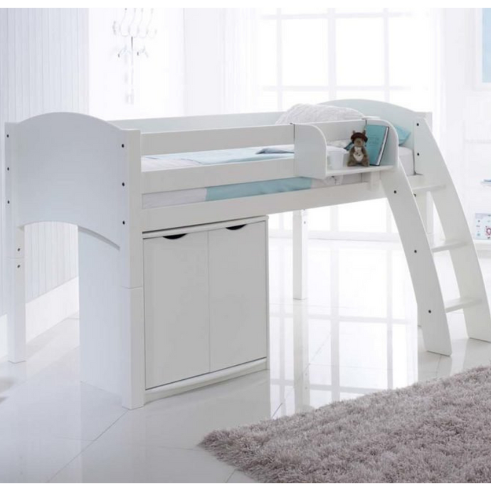 Scallywag Kids Midsleeper Cabin Bed Including Wide Cupboard