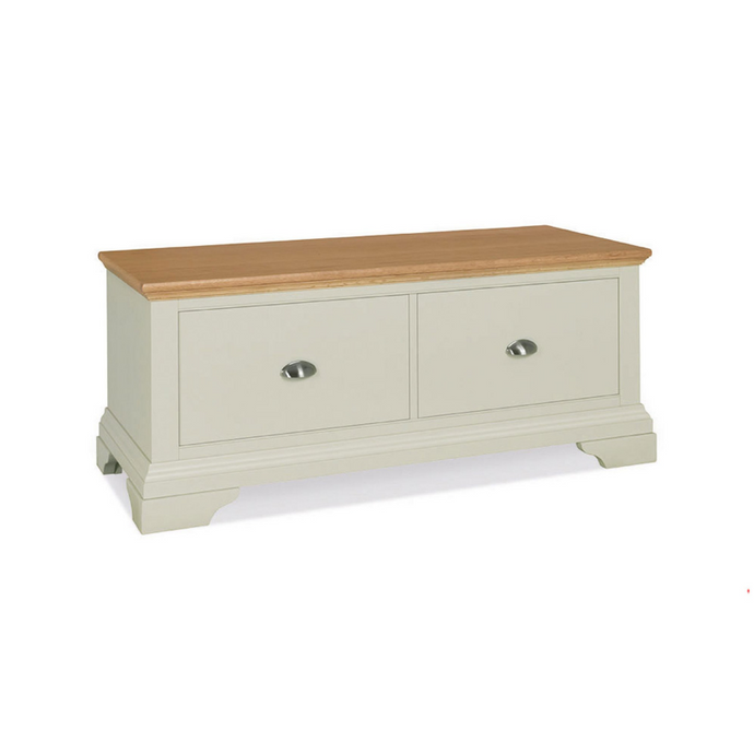 Kensington Soft Grey & Oak Blanket Box