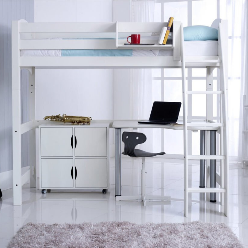 Scallywag Kids - High Sleeper package including Free Standing Desk & Quad storage