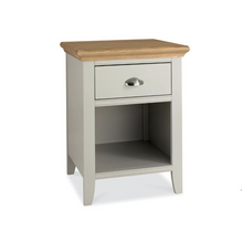 Kensington Soft Grey & Oak 1 Drawer Bedside