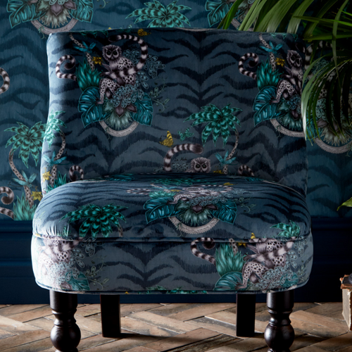 Emma Shipley LANGLEY Lemur Navy Chair