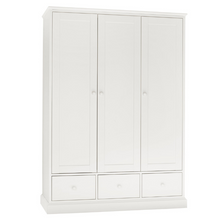 Rutland White Triple Wardrobe
