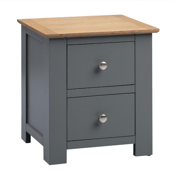 Newport Oak 2 Drawer Nightstand
