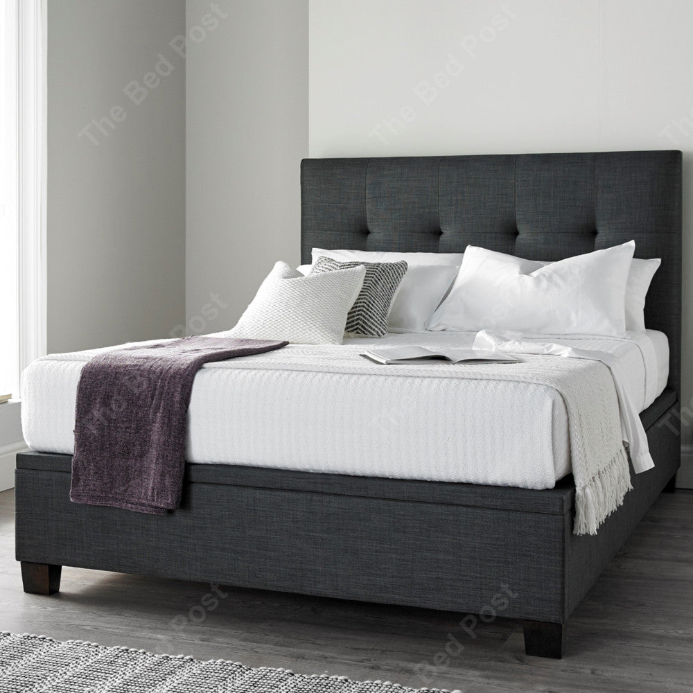 Cambidge Ottoman In Slate The Bed Post