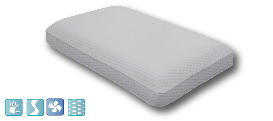 Luxury Cool Gel Infused Memory Foam Pillow