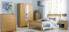 Memphis Oak Low Footend Single Bedstead