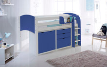 Scallywag Kids Contour Cabin Bed Including 3 Drawer Chest, Cupboard and Narrow Shelf