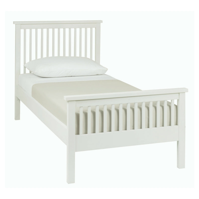 Memphis White High Footend Single Bedstead