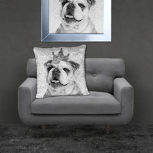 Crushed Velvet BRITISH BULLDOG Cushion