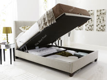 Kaydian Walkworth Ottoman in Oatmeal - Open